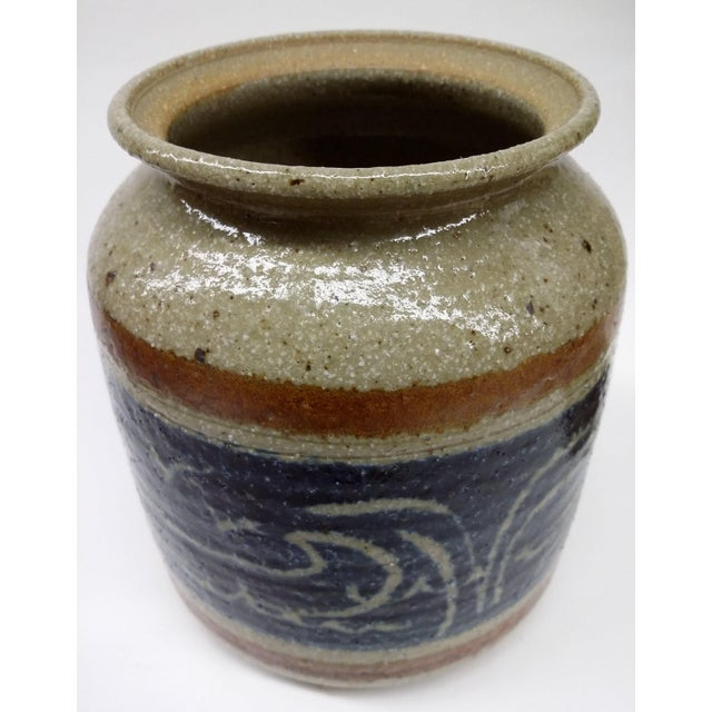 Ceramic Hand Turned Pottery Wild Rice Container For Sale - Image 7 of 11