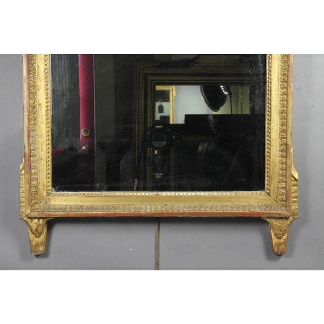 Neoclassical Louis XVI Giltwood Mirror For Sale - Image 3 of 6