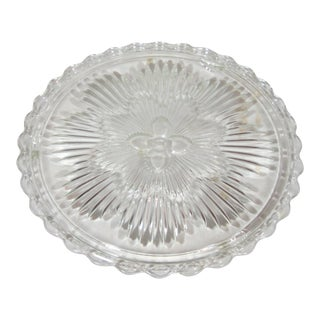 1930's Glass Serving Footed Tray For Sale