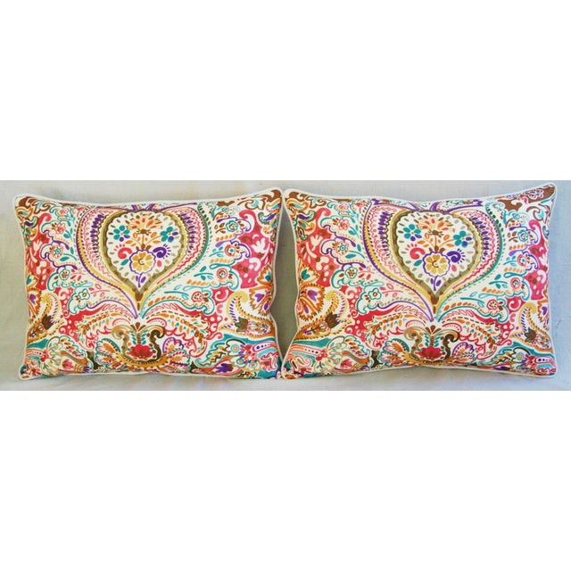 Custom Colorful Cotton & Linen Pillows - Pair - Image 3 of 11