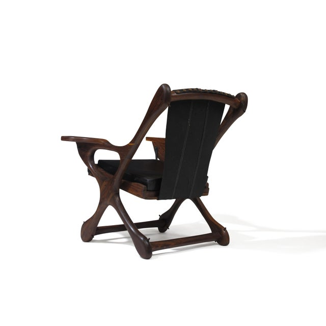 1950s Don Shoemaker Cocobolo Rosewood Swinger Chair For Sale - Image 5 of 9