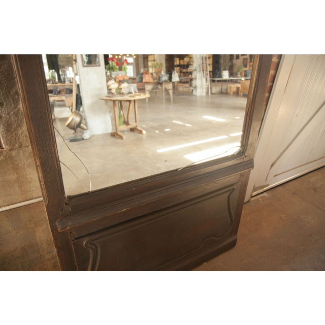 Vintage Solid Wood Door with Mirror Inlay For Sale In Nashville - Image 6 of 6