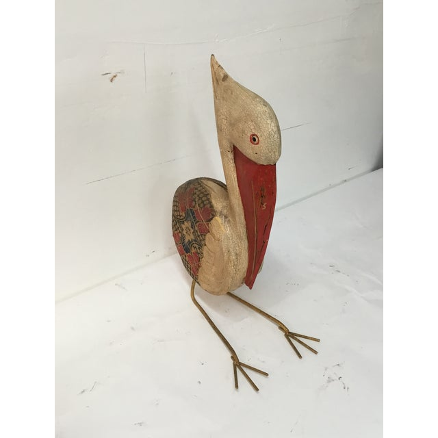 Wooden Pelican Decorative from Bali - Image 4 of 4