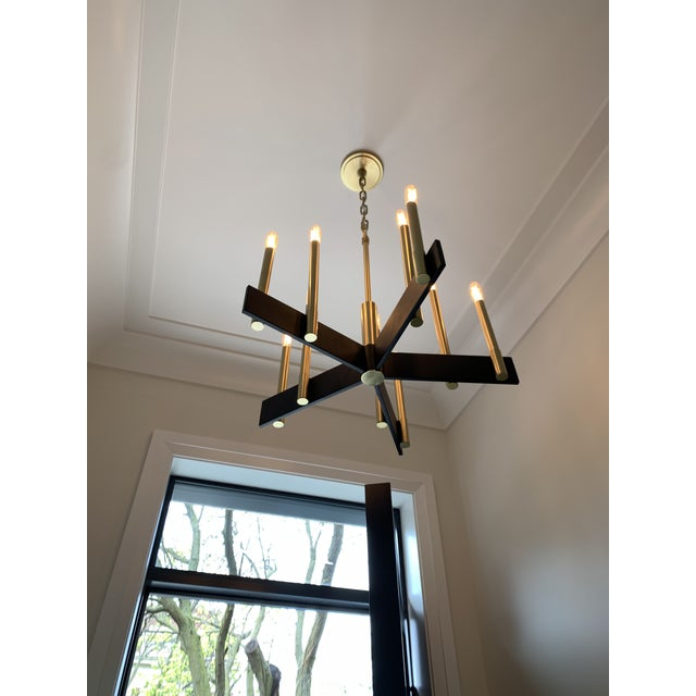 Contemporary Hudson Valley Lighting Abrams Chandelier For Sale - Image 3 of 10