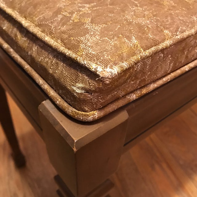 Mid-Century Piano Bench Storage Stool For Sale - Image 10 of 11