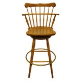 Image of Late 20th Century S Bent Bros. Gardener Solid Maple Swivel Bar Stool For Sale
