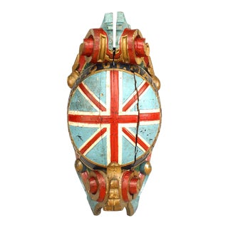English Carved Figurehead of Union Jack For Sale