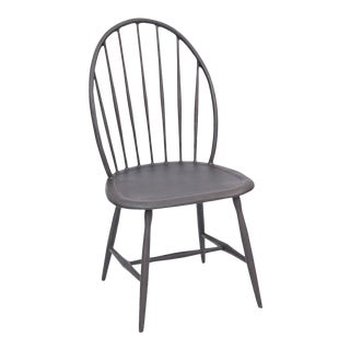 Windsor Armless Outdoor Chair in Black For Sale