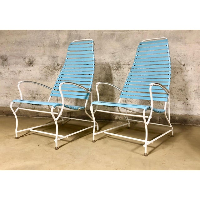 Pair of Mid Century Modern High Back Patio Lounge Chairs For Sale - Image 13 of 13