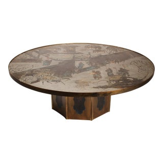 "Large Bronze ""Chan"" Cocktail Table by Philip & Kelvin Laverne For Sale"
