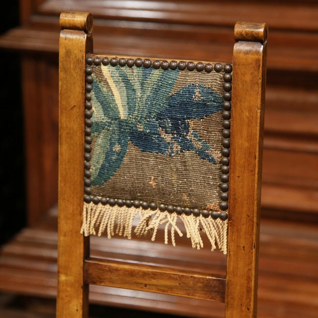 18th Century French Walnut Baby Chair with Aubusson Tapestry For Sale In Dallas - Image 6 of 9