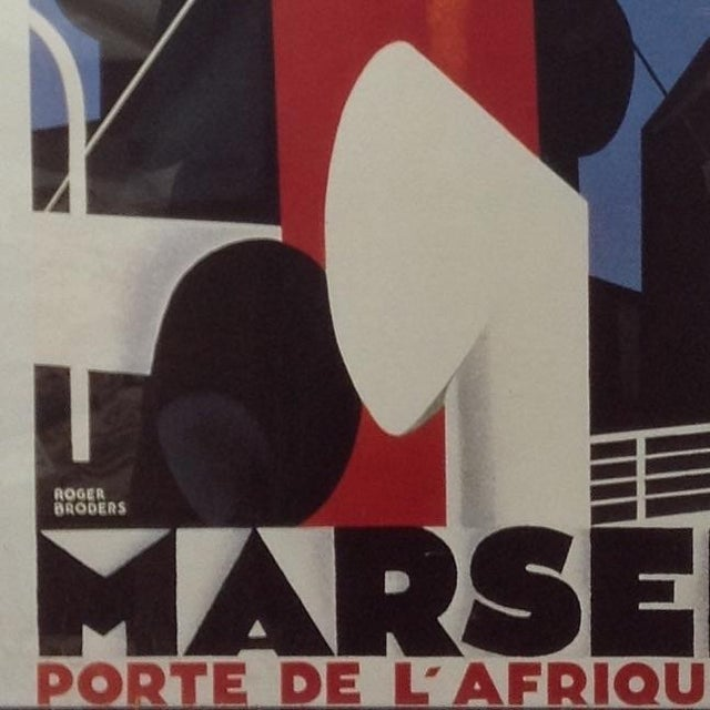 Marseille Porte de l'Afrique du Nord Framed Poster For Sale - Image 4 of 4