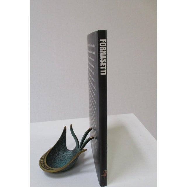Modernist Brass Hand Sculptural Form Dish - Image 4 of 9