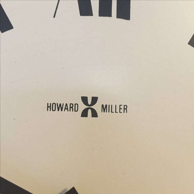MCM Howard Miller Wall Clock by George Nelson - Image 6 of 7