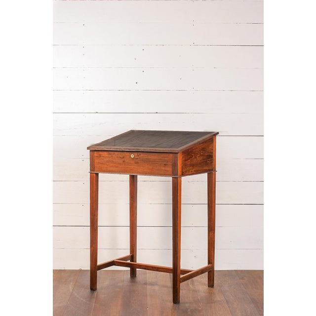 Antique Anglo-Indian Teak Standing Desk For Sale - Image 4 of 7 - Antique Anglo-Indian Teak Standing Desk Chairish