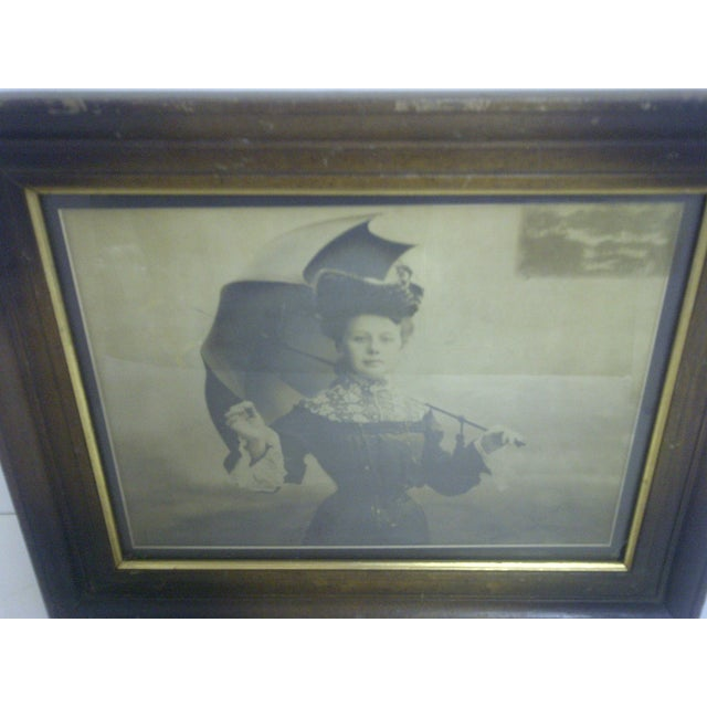 """French """"Victorian Lady"""" by Paul Borcl, Signed 1905 For Sale - Image 3 of 7"""