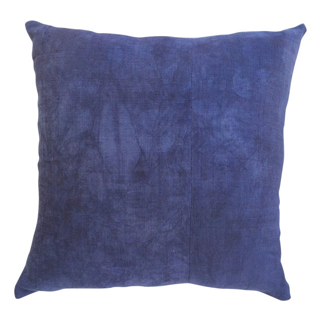 Hand Woven Purple-Indigo Hemp Pillow - Image 1 of 3