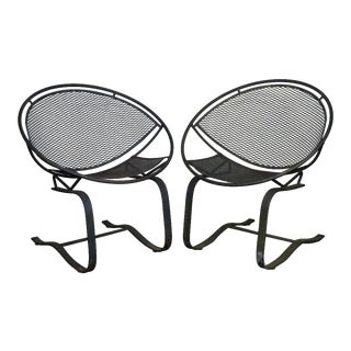 Maurizio Tempestini for Salterini Circular Saucer Chairs - a Pair For Sale