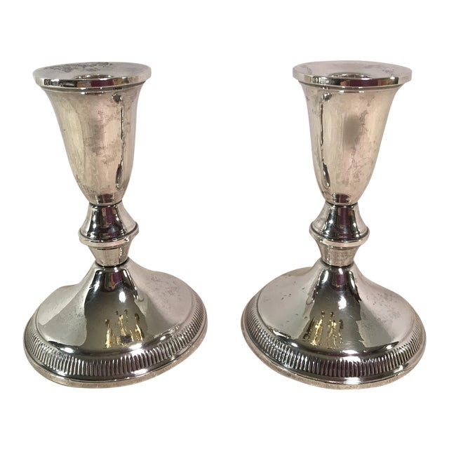Sterling Silver Candle Holders by Duchin - A Pair - Image 1 of 11