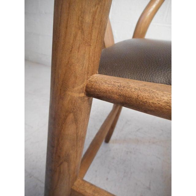Brown Vintage Modern Wegner Style Wishbone Chair For Sale - Image 8 of 13
