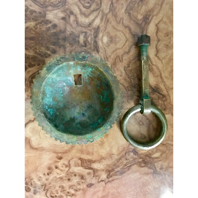 1920's Solid Brass Door Knocker For Sale In Dallas - Image 6 of 7
