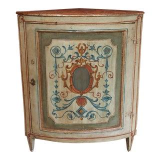 19th Century Italian Painted Corner Cabinet For Sale
