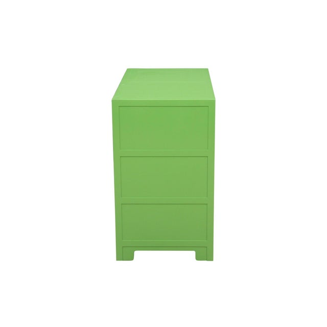 Midcentury Style Green and Pink Chest of Drawers - Image 3 of 7