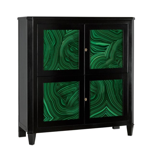 Glass Currey & Co. Sinclair Bar Cabinet For Sale - Image 7 of 7