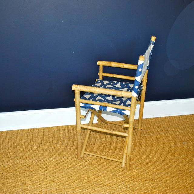 Bamboo Director's Chairs - Set of 4 - Image 6 of 7