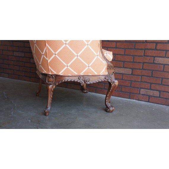 French Early 20th Century Antique French Carved Upholstered Chair For Sale - Image 3 of 5