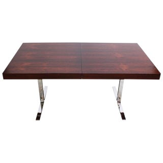 Poul Nørreklit Low Rosewood Extension Table for Georg Petersens For Sale