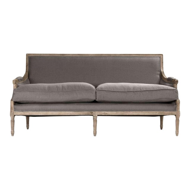 Audley Sofa in Gray For Sale