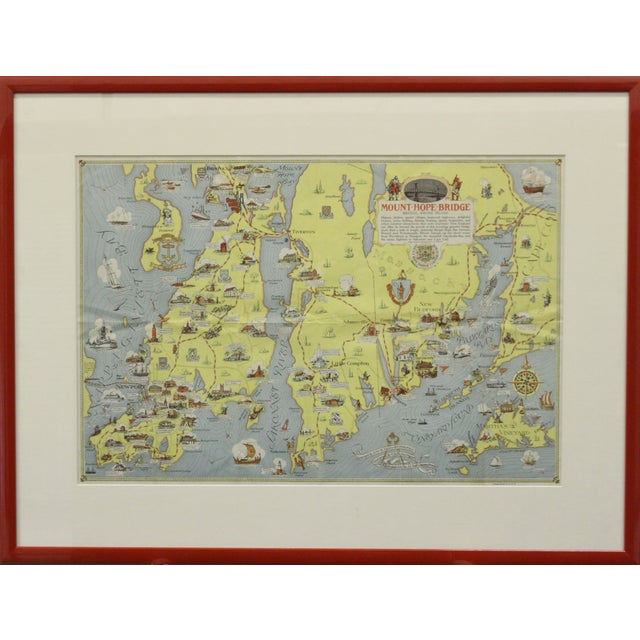 Rhode Island Map, 1933 For Sale