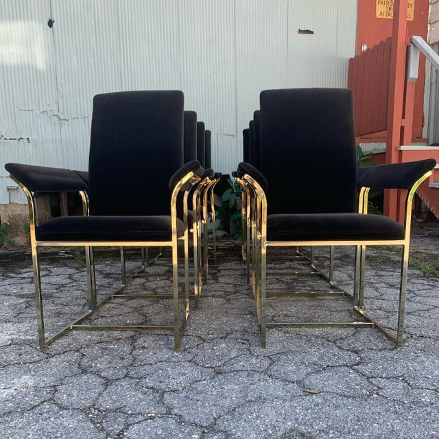 Milo Baughman Style Dining Chairs- Set of 8 For Sale - Image 10 of 10