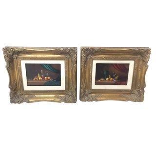 Small Fine Detail Still Life by Kalman - a Pair For Sale