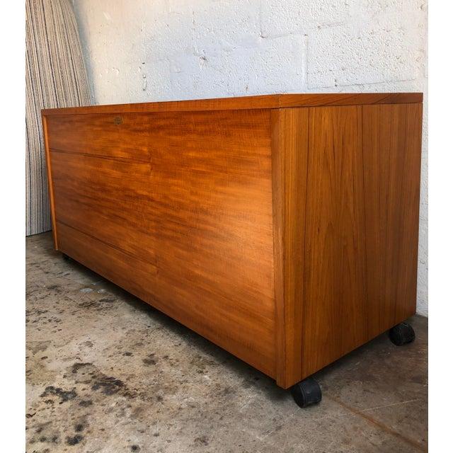 Brown Vintage Mid Century Danish Modern Three Sided Desk by Jesper International For Sale - Image 8 of 13