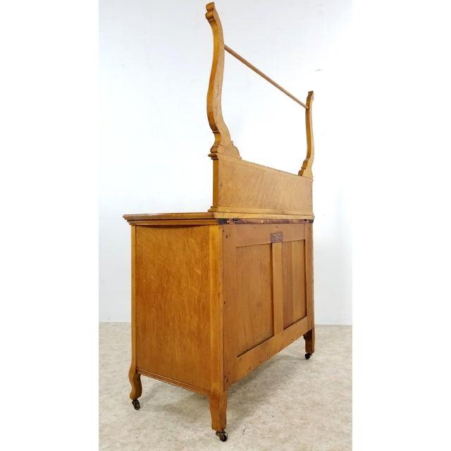 1910s Vintage Widdicomb Birds Eye Dresser Vanity For Sale - Image 11 of 13