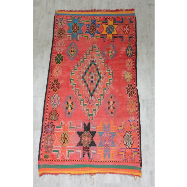 1940s 1940s Vintage Moroccan Rug - 5′3″ × 10′7″ For Sale - Image 5 of 5