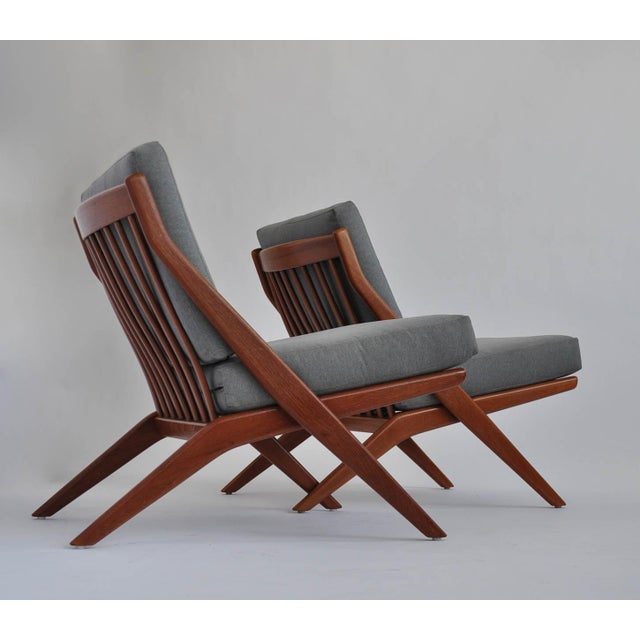 Folk Ohlsson Scandinavian Scissor Lounge Chairs - Image 3 of 10