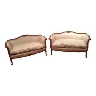 Louis XV Style Loveseats - A Pair For Sale