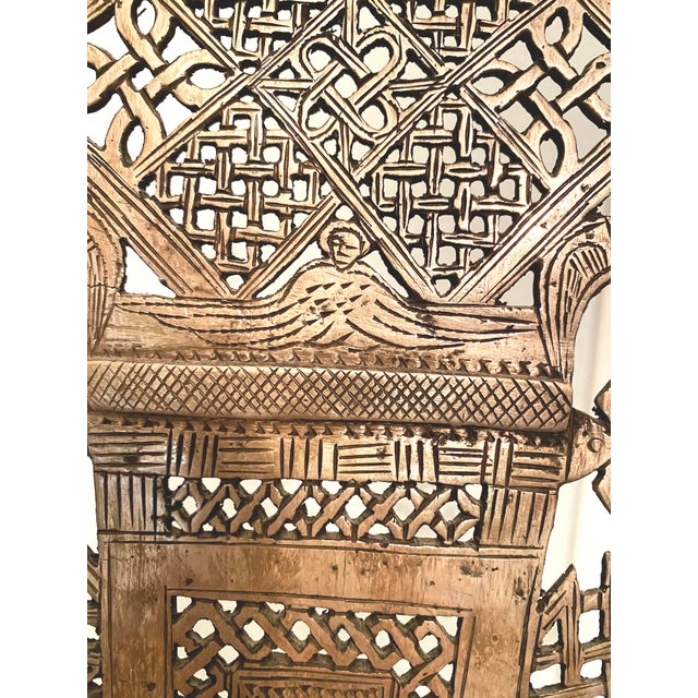 Silver Mid 20th Century Large Ethiopian Coptic Processional Metal Cross on Black Metal Stand For Sale - Image 8 of 13
