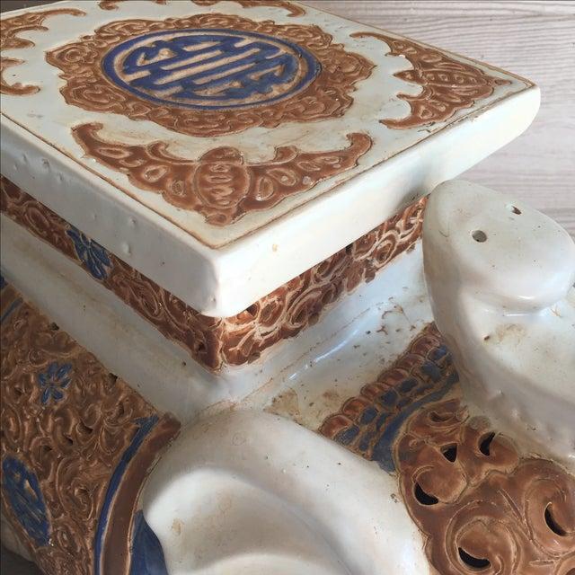 Chinoiserie Ceramic Elephant Garden Stool - Image 5 of 7