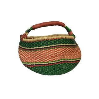 Large African Bolga Ghana Market Basket For Sale