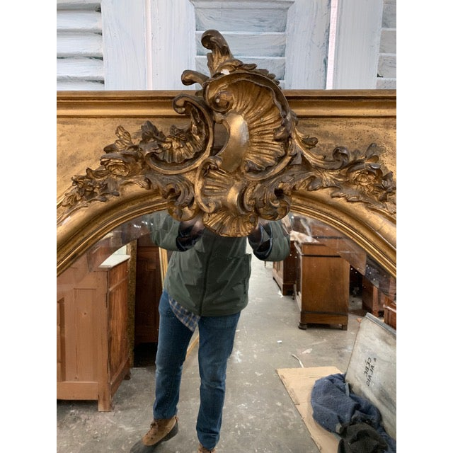 Glass 18th Century Grand Napoleon III Wall Mirror For Sale - Image 7 of 11