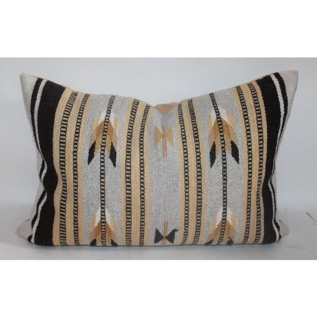 Linen Chinle Navajo Indian Weaving Pillows - Collection of 4 For Sale - Image 7 of 8