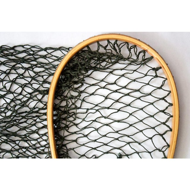 Pristine vintage fishing net, circa 1950. Perfect unique nautical wall decor, net can be styled in various ways to fit...