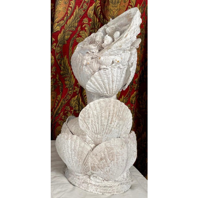 "1990s ""Sea Queen"" Woman Bust Sea Shell Sculpture #3 For Sale - Image 4 of 11"