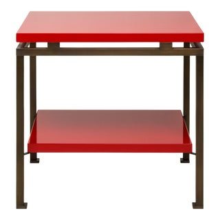 Veere Grenney Collection Portsea Side Table in Chinese Red For Sale