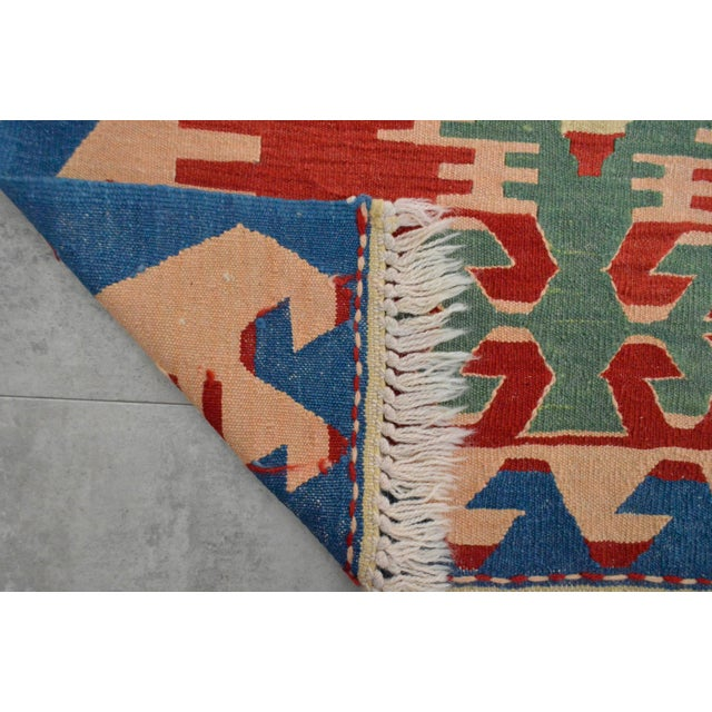 "New Turkish Hand Woven Oushak Rug - 2'11"" X 3'10"" - Image 6 of 6"