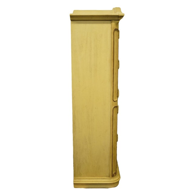 20th Century Italian Tuscan Stanley Furniture Painted Cream Clothing Armoire For Sale - Image 11 of 12